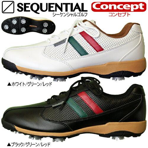 【2018年継続モデル日本正規品65%OFF!】シーケンシャルゴルフコンセプトソフトスパイク ゴルフシューズ「SEQUENTIAL GOLF Concept SQGS-3001」送料無料【あす楽対応】