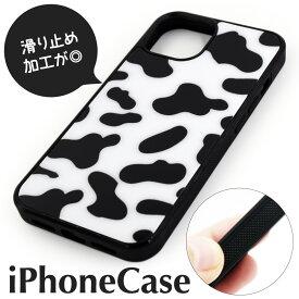 【送料無料】 ぶち柄 アイフォン ケース 牛柄 光沢 iPhone 11 pro promax xs xr 6 7 8 plus ip iphone5 se 5 6 7 8 SE2 スマホ カバー 白黒 斑点 うしがら 斑模様 ホワイト ブラック モノトーン
