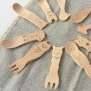 カトラリー動物おやつカトラリーハードメープルLaluzラルーススプーンフォーク子供キッズベビー木製おやつ食事食器かわいい北欧プレゼントギフトお祝い