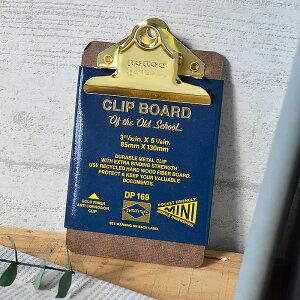 penco クリップボードO/S ゴールドミニ クリップファイル DP169 クリップボード バインダー かわいい かっこいい ミニサイズ ペンコ オシャレ ボード 新生活 文房具 会議 打ち合わせ メモ