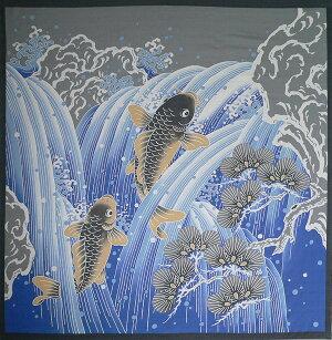 風呂敷開運ふろしき鯉の滝登り(118cm)商品画像