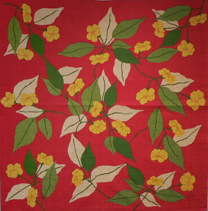風呂敷75cmサイズシビラ綿二巾ふろしきPENSAMIENTO(ペンサミエント)レッド風呂敷画像