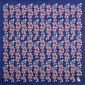 Furoshiki Takehisa yumeji Strawberry (dark blue) cotton dyeing Furoshiki (70 cm) made in Japan 1-Shou rice cake for furoshiki wrapping cloth bag furoshiki furoshiki