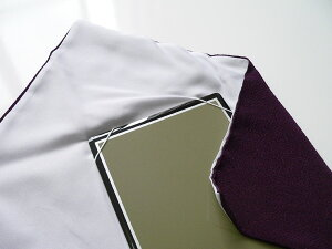 丹後ちりめん台付ふくさ(紫)商品拡大画像