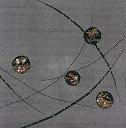 風呂敷 おしどり ちりめん友禅ふろしき(黒)(68cm) 日本製【風呂敷なら京都ふろしき倶楽部】一升餅用ふろしき フロシキ furoshiki