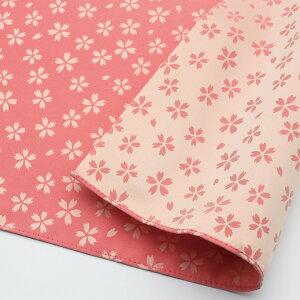 70きらら桜(ピンク/クリーム)ポリエステルふろしき(70cm)商品拡大画像