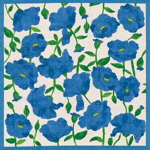 風呂敷75cmサイズシビラ綿二巾ふろしきBRILLANTEZ(ブリヤンテス)ブルー風呂敷画像