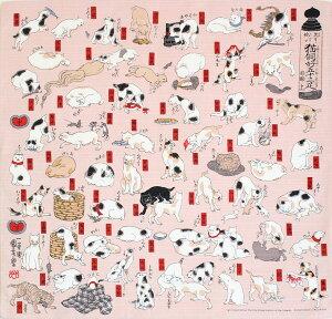 チーフ浮世絵猫飼好五十三疋シャンタンふろしき(48cm)商品画像
