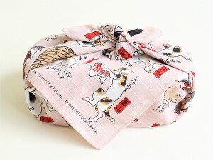 チーフ浮世絵猫飼好五十三疋シャンタンふろしき(48cm)イメージ画像