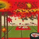風呂敷 50cm 猫のみけと紅葉 11月 綿シャンタンふろしき 日本製 おしゃれ かわいい キャラクター タペストリー お弁当…