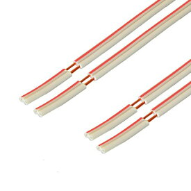 【ラッキーシール対応】【W】スピーカーケーブル 赤白【OFC】5m×2本セット C077