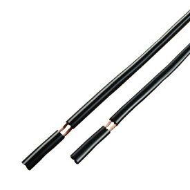 [10m][ラッキーシール対応][W]スピーカーケーブル 外径2.5mm[OFC]ブラック【1本入り】C10010A
