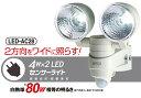 【ポイント10倍】[RITEX]LED防犯センサーライト家庭用電源専用 LEDセンサーライト 自動点灯・自動消灯LEDAC28