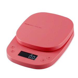 [ポイント10倍][ELECOM]キッチンスケール デジタル はかり 最小 0.1g 最大 2kg タイマー機能 ピンク 自動電源オフ 見やすいバックライト パスタに便利 パン お菓子作り おしゃれ HCS-KS03PN/HCSKS03PN
