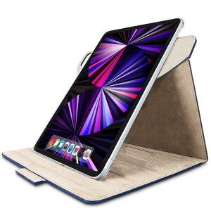 [ポイント10倍][ELECOM]iPad Pro 11インチ ケース カバー フラップ 手帳 レザー 360度回転 タッチペンホルダ マグネット ネイビー TB-A21PM360NV/TBA21PM360NV