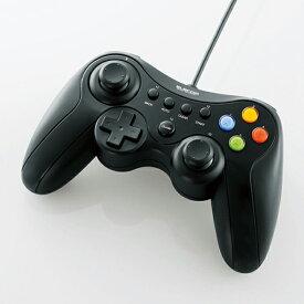 [ポイント10倍][ELECOM] Xinput対応12ボタンUSBゲームパッド JC-U3613MBK ゲームコントローラーパッドJCU3613MBK