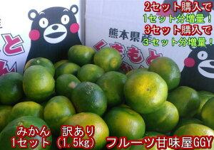 【セット】みかん 訳あり 1セット1.5kg 熊本産 2セット購入で1セットおまけ!3セット購入で3セットおまけ!熊本産 ご家庭用 フルーツ 果物 ポイント消化 60サイズ