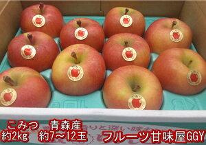 こみつ 青森産 蜜入りリンゴ 1箱 約2kg 6〜13玉 JA津軽みらい石川 お歳暮 ギフト 80サイズ