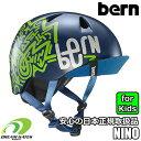 [日本正規取扱品] bern[バーン]【NINO】バイザー付キッズ、子供用ヘルメットランニングバイクやスケートの時には必須アイテム!!