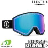 ELECTRIC【21/22・KLEVELAND+|GLOSSBLACK:PHOTOCHROMICROSE/BLUECHROME(13-45%)】エレクトリッククリーブランドプラス調光レンズ採用モデルスキースノボスノーボードゴーグル平面ダブルレンズ採用モデル
