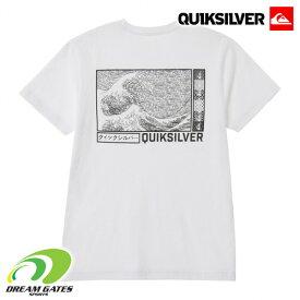 QUIKSILVER 【NEW M&W ST:WHT】[クイックシルバー] 20SUMMER [QST202617T] 半袖Tシャツ 浮世絵 バックプリント メンズ ユニセックス ホワイト [メール便対応可]