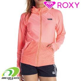 ROXY【LOTUS FLOWER RASH:PEA】ラッシュガード ジップパーカータイプ ラッシュパーカー 海、プールでの紫外線対策 ロキシー レディース レディス 女性用