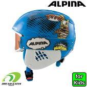 ALPINA[アルピナ]子供用ヘルメット+ゴーグルセット【CARATSETDISNEY:DONALDDUCK】[A9220280]スノボスノーボードスキーキッズジュニアディズニードナルドダックゴーグル付き2点セット