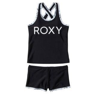 ROXY【MINIDEEPWATER:BLK】[ロキシー]20SP子供用水着タンキニスイムウェア上下セットキッズジュニアガールズ黒ブラック[TSW201100]