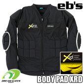 eb's【20/21・BODYPADXRD:BLACK】エビスプロテクターポロンエックスアールディー衝撃に反応して硬化する軽量最先端衝撃吸収素材を採用した高機能モデルスキースノーボードプロテクション