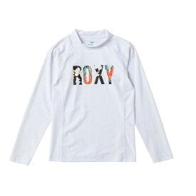 ROXY【MINI BOTANICAL LOGO L/S:WHT】[ロキシー] 20SP 子供用ラッシュガード 長袖 キッズ ジュニア UVカット 白 ホワイト [TLY201105] [メール便対応可]
