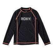 ROXY【MINIRASHIEL/S:BLK】[ロキシー]20SP子供用ラッシュガードプルオーバーキッズジュニアUVカット黒ブラック[TLY201108]