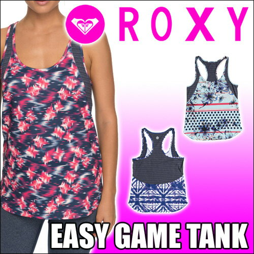 ROXY[ロキシー] UVカット&速乾素材【EASY GAME TANK】海外サイズ プリントタンクトップ・ルーズフィット