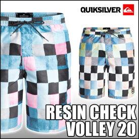 QUIKSILVER[クイックシルバー]【RESIN CHECK VOLLEY 20】大人用ボードショーツ 水着