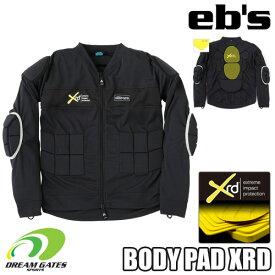 eb's エビス 【19/20・BODY PAD XRD:BLACK】スキー スノボ スノーボード用 プロテクター プロテクション ボディパッドエックスアールディー