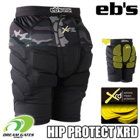 eb's 【20/21・HIP PROTECT SHORT XRD:BK-CAMO】エビス プロテクター ポロン エックスアールディー 衝撃に反応して硬化する軽量最先端衝撃吸収素材を採用した高機能モデル スキー スノーボード プロテクション