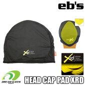 eb'sエビス【19/20・HEADCAPPADXRD:BLACK】衝撃に反応して硬化する特殊素材を縫いこんだ頭部保護のビーニースキースノボスノーボードプロテクタープロテクションポロンエックスアールディー採用