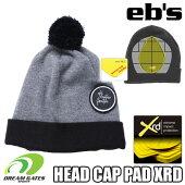 eb'sエビス【19/20・XRDBEANIE:CHARCOAL】衝撃に反応して硬化する特殊素材を縫いこんだ頭部保護のビーニースキースノボスノーボードプロテクタープロテクションポロンエックスアールディー採用