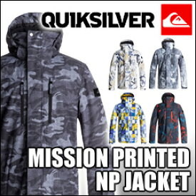 QUIKSILVER[クイックシルバー]【MISSION PRINTED NP JACKET】スノーウェア スノボウェア スノボ ウェア スノーボード ウェア