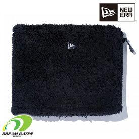 NEWERA【BOA FLEECE NECK WARMER:BLACK】 ニューエラ ボア フリース ネックウォーマー 毛足の長いフリースを使用した保温性に優れるネックウォーマー [メール便対応可]