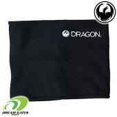 DRAGON【NECKWARMER:BLACK】ゴーグルブランドドラゴンソフトウェアネックウォーマーフリース素材スキースノボスノーボード大人用フリーサイズ