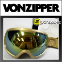 [半額以下・60%OFF]ゴーグル Vonzipper (ボンジッパー)【14/15・FEENOM-N.L.S】GOLD/GOLD CHROME