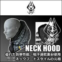【SALE!!+送料無料】HECK(ヘック)ネックフード【NECKHOOD】BLACKDIAネックウォーマー+フードスタイル