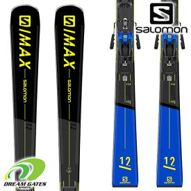【納期B】SALOMON【21/22・S/MAX 12 + Z12 TL GW】[L41170000] サロモン スキー板 ビンディングとの二点セット 取付工賃無料 送料無料 エスマックス トゥエルブ