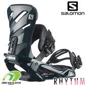 【納期B】SALOMON【RHYTHMBLACK】ベーシックな機能を備えてステップアップを助けるサロモンバインディングの「リズム」スノボバインディングビンディングメンズユニセックスサロモンL40833200