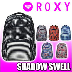 ROXY[ロキシー] バックパック【SHADOW SWELL】2017SP PCスリーブ、オーガナイザーポケット付リュックサック
