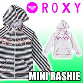 ROXY[ロキシー] 子供用ラッシュガード【MINI RASHIE PARKA】ジップアップパーカータイプ販売サイズ 100cm、110cm、120cm、130cm、140cm、150cm[メール便対応可]
