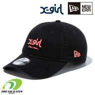 NEWERA【930ESX-GIRLMILLSNE:BLACKSUNSETORANGE】ニューエラエックスガールコラボアイテムXGIRLキャップ帽子ナインサーティー