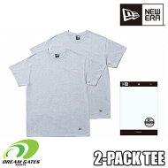 NEWERA【2PACKTEE:GRAY】ニューエラ半袖Tシャツ二枚組二枚入りツーパックティー