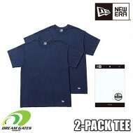 NEWERA【2PACKTEE:NAVY】ニューエラ半袖Tシャツ二枚組二枚入りツーパックティー