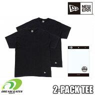 NEWERA【2PACKTEE:BLACK】ニューエラ半袖Tシャツ二枚組二枚入りツーパックティー